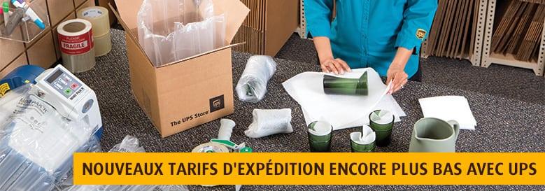 Services d'emballage et d'expédition