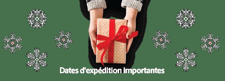 Vos cadeaux livrés à temps pour les Fêtes !
