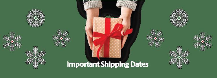 Key Shipping Dates 2020